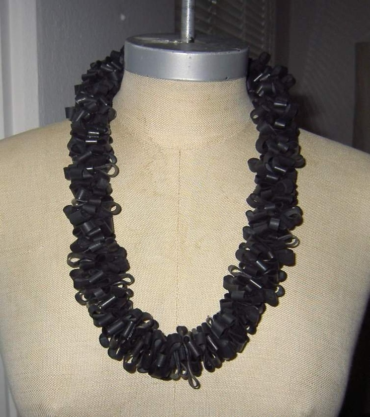 necklace made from bike tubes