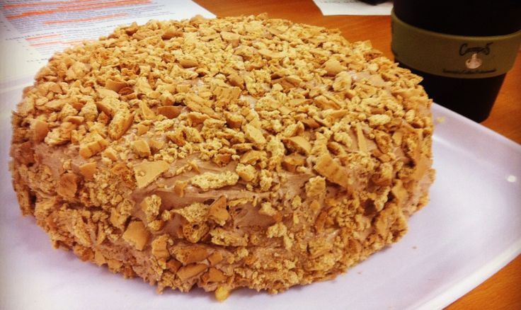 Australian's get excited! Its a recipe for a Golden Gaytime cake! (For those who dont know, a Golden Gaytime is a yummy retro ice cream!)