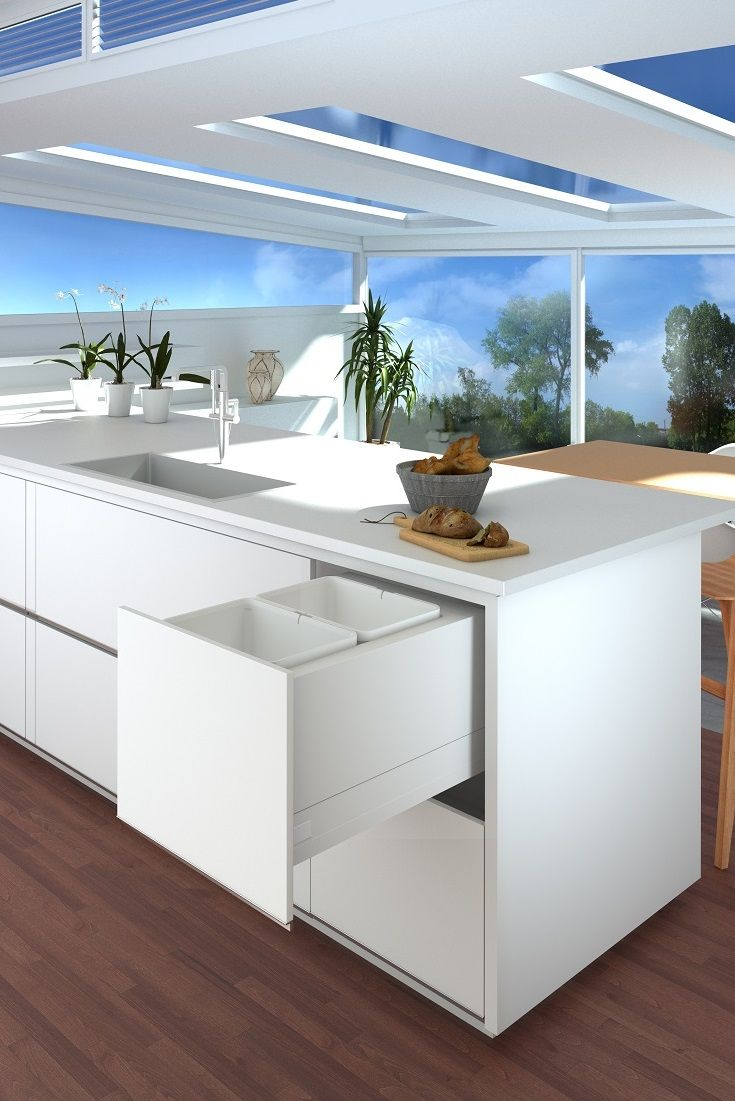Tanova Deluxe pull out kitchen rubbish bins feature super smooth sliding runners from Harn Triomax®, for effortless opening and closing every time. The Sylent® integrated cushioning system ensures quiet and soft closing by automatically adapting to varying closing speeds and drawer weights. These Tanova pull out, soft close waste bins offers a large range of sizes to seamlessly fit into your kitchen. Options available for cabinet widths from 300mm, 350mm, 400mm, 450mm, 600mm, 800mm.