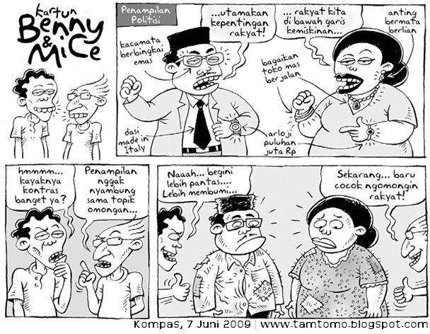 Benny & Mice, Kompas - 7 Juni 2009: Politisi