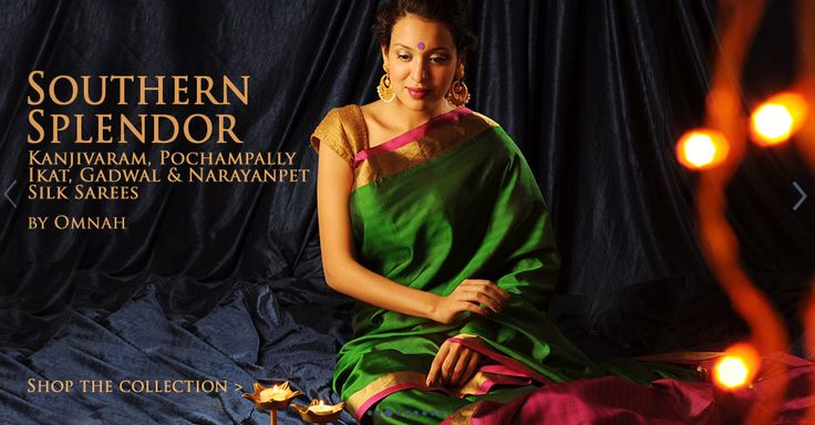Omnah's south silk sarees on sale at www.Jaypore.com