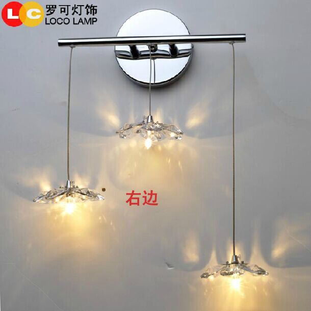 Ronaldo can import original crystal lamp bedside lamp wall lamp lamp bedroom Jasmine Restaurant