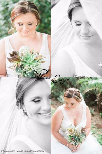 Succulent bridal bouquet. 6 Feb 2016. Just loved creating this master piece.  Floral Design  by www.pinkenergyfloraldesign.co.za