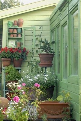 Even a small porch or patio can have a good-sized container garden; use plant stands for different heights, and cluster pots together for interest and eye appeal.