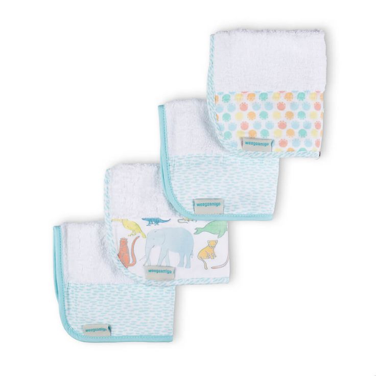 Towelling Washers 4PK - Great & Small