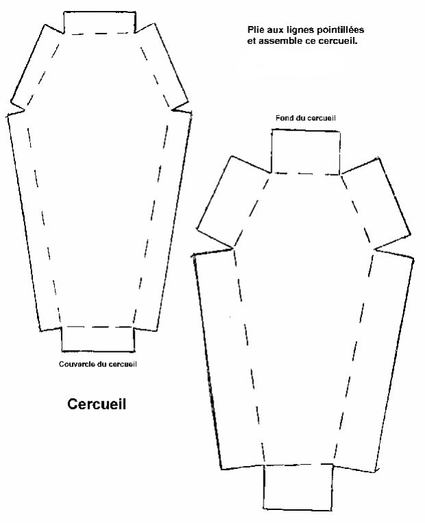 Pliage Cercueil Pour Une Boite A Secrets Cercueil En Carton Cercueil Idee Halloween