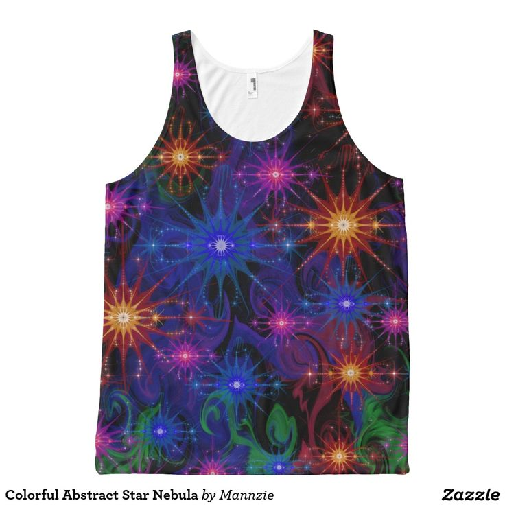 Colorful Abstract Star Nebula All-Over Print Tank Top