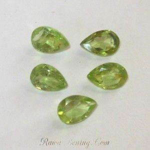 Jual 5pcs Batu Permata Peridot Bentuk Pear Shape 2.10 carat