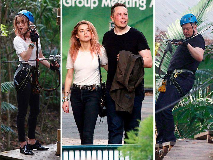 Amber Heard & Elon Musk Go Ziplining Down Under WITH His Kids (PHOTO GALLERY)