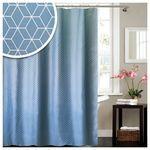 Bad Zubehör Textil Wannenvorhang Muster weiß blau Vorhang Dusche