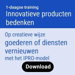 Een duurzame strategie vereist een innovatief aanbod van producten of diensten. Voor innovatie zijn veel creatieve methodes beschikbaar. Maar welke daarvan werken écht en welke passen bij ú en úw organisatie? De rode draad van deze training is het door Frank ontwikkelde raamwerk IPRO dat het process van innovatie stap voor stap behandelt en toepast.