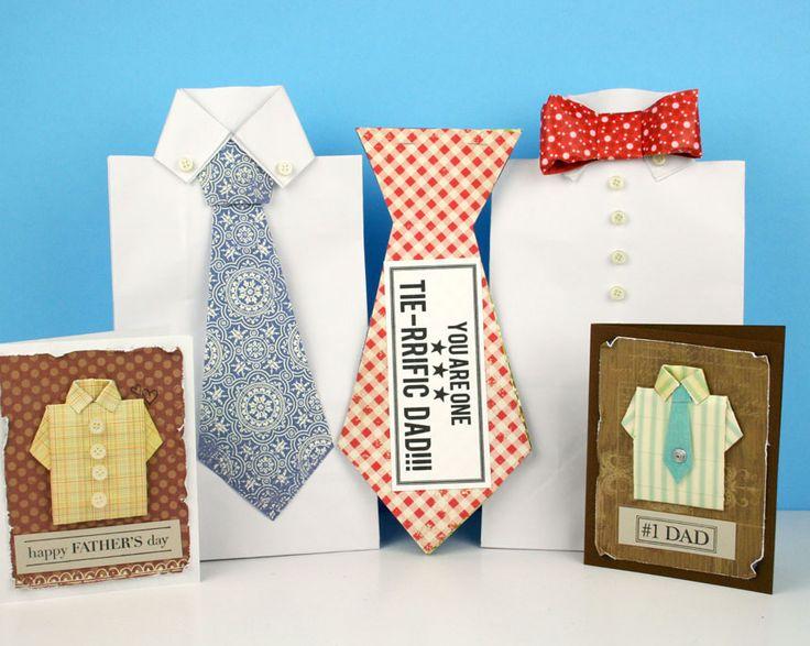 Tie-rrific Fathers Day Cards! www.fiskars.com