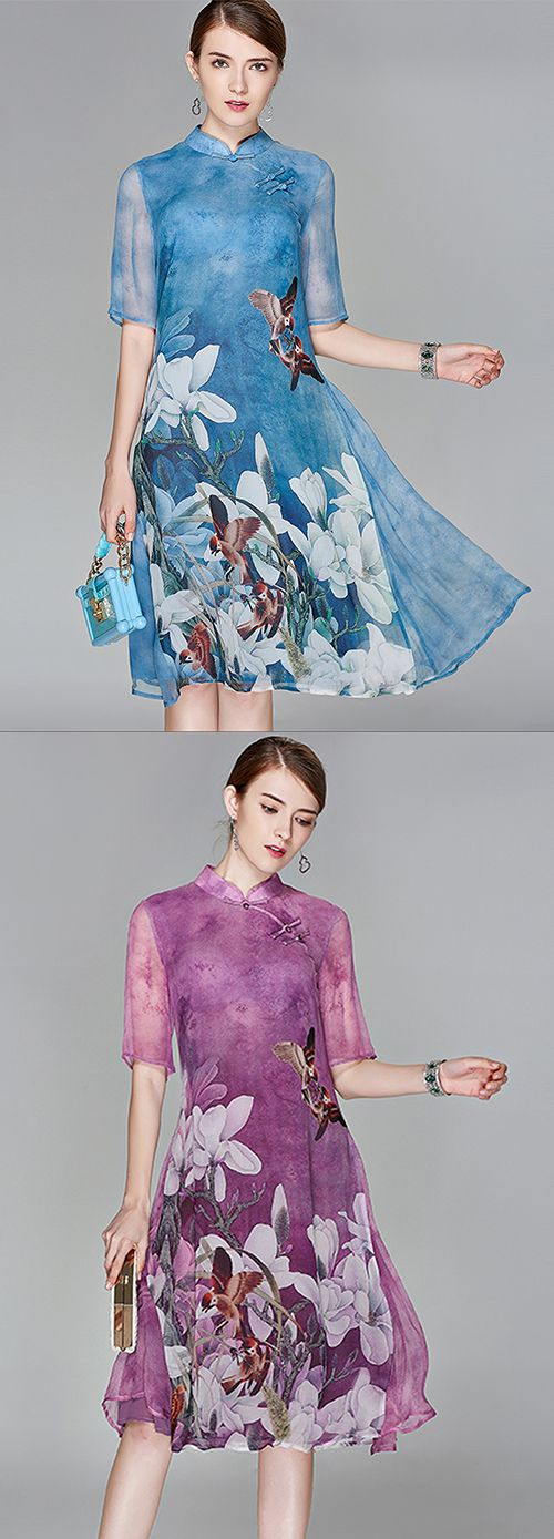 Women's Party Going out Boho Street chic Swing Chinese style Dress