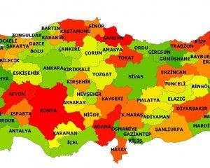Landkarte von Turkei