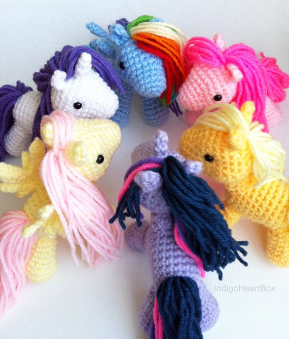 Pony Crochet Pattern by IndigoHeartBox on Etsy