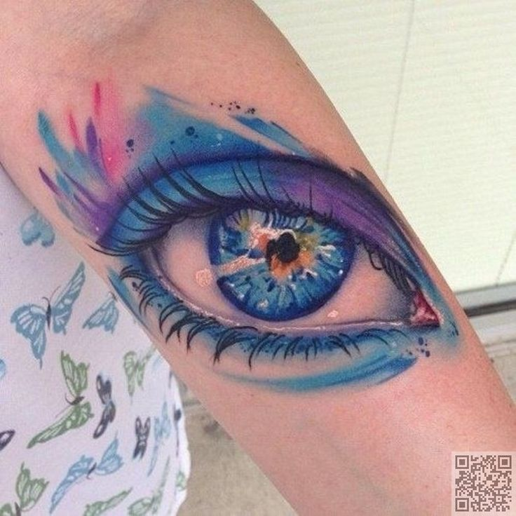 39. ojo - 45 #tatuajes acuarelas increíbles... → #Beauty