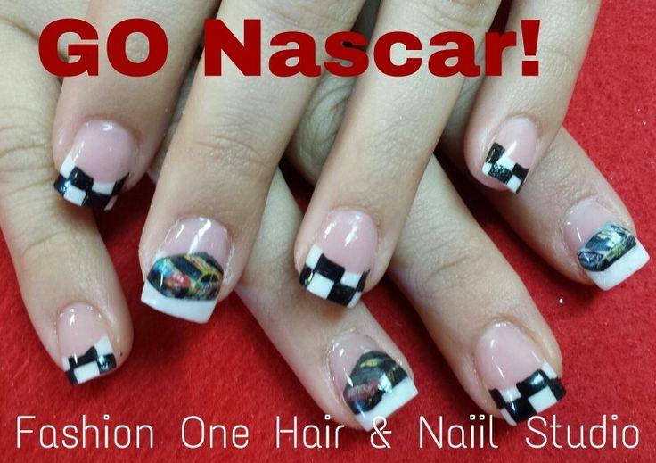 Racing Checkered Flag >> Image result for nascar nails | checkered flag nails | Pinterest | Nascar nails, Racing nails ...