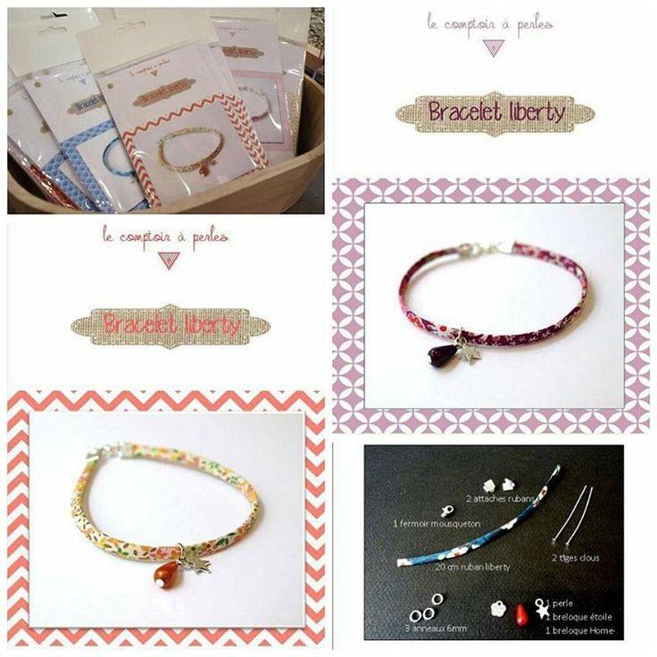En panne d'inspiration pour Noël? Le comptoir à perles a plein d'idées cadeaux pour vous!  Idée cadeau #1 : le kit bracelet liberty - tous les matériaux et explications pour fabriquer son premier bijou en ruban liberty! (8 coloris au choix ;) )  Et pour rappel on est ouvert aujourd'hui et tous les dimanches jusqu'à Noël jusqu'à 18h30, profitez-en!  #noël #cadeau #kit #ruban #liberty #creation #création #DIY #handmade #faitmain #handmadejewelry #bijoux #perles #perlesaddict #breloques #beads…