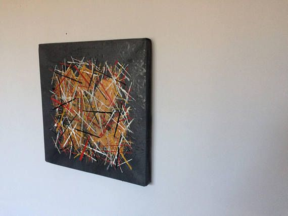 Small Original Abstract Painting Acrylic on canvas
