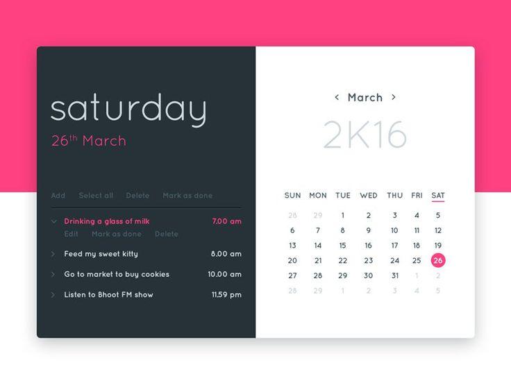 Calendar UI                                                                                                                                                                                 Más