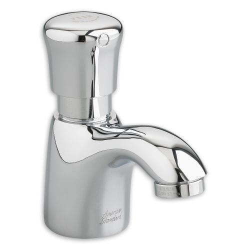 American Standard 1340M.109 Pillar Tap Single Hole Metering Faucet, Silver stainless steel