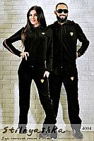 Спортивный костюм мужской и женский Ferrari черный 4004