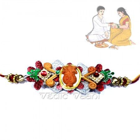 Buy Designer Rakhi Online for Raksha Bandhan, Vedicvaani.com Rakhi, Peacock Rakhi, Ganesh Rakhi, Charm Rakhi , Send to Brother a Best Rakhi Gifts Collections.