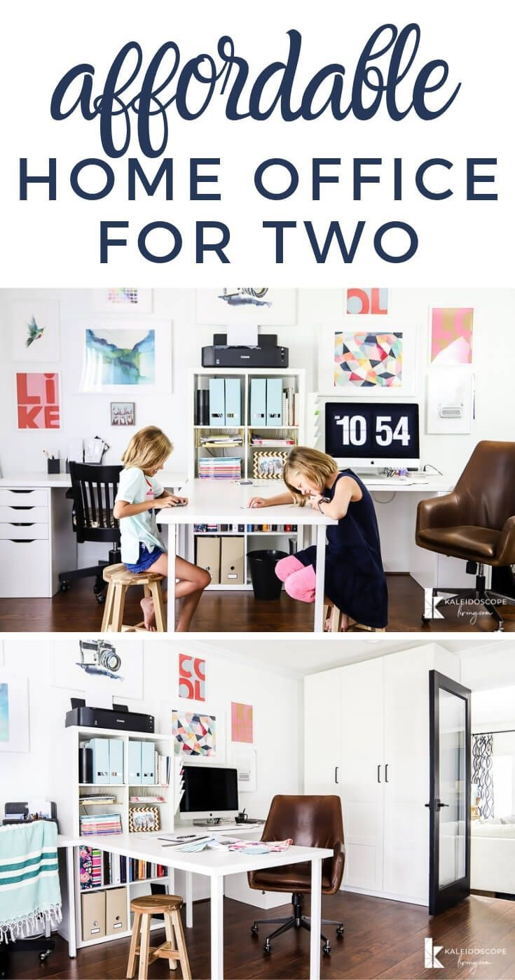 Home Office Makeover Craft Room Reveal Kaleidoscope Living Home Office Design Office Makeover Feminine Home Offices
