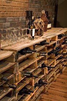 Cave a vin ( objet et meuble en palette )