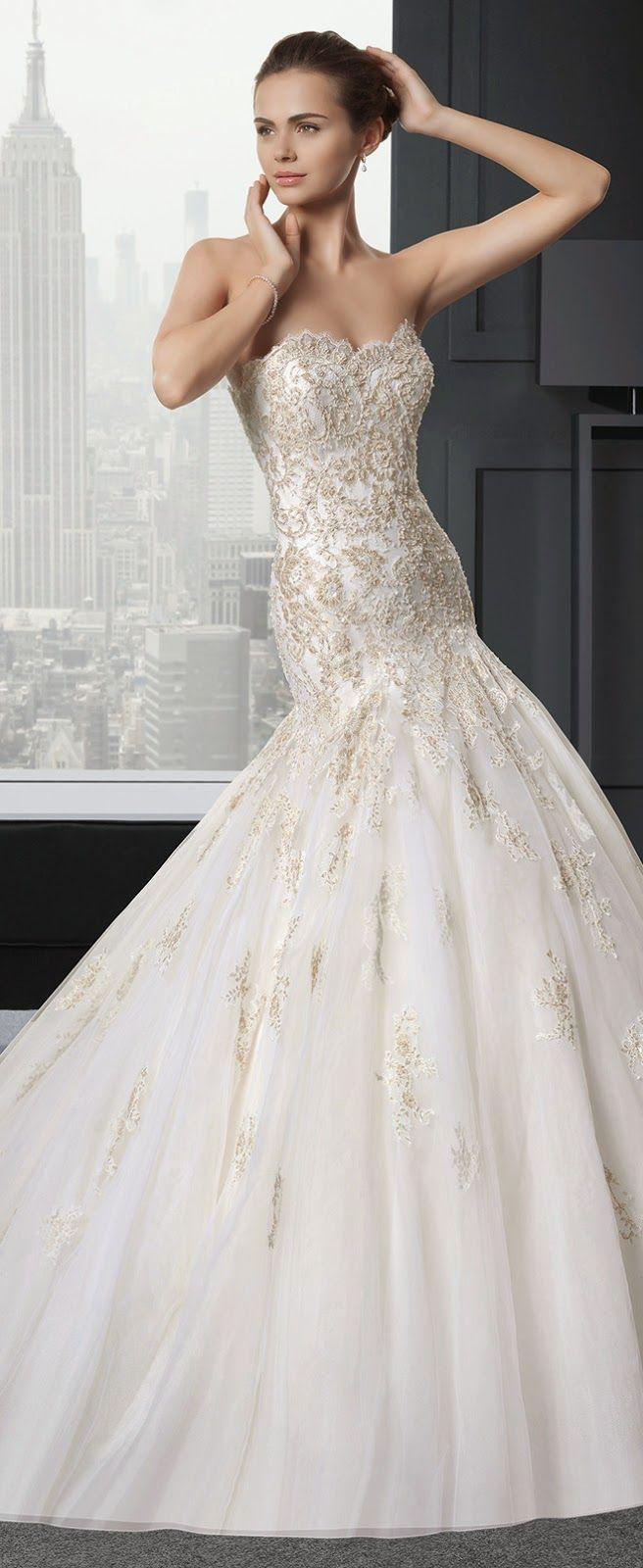 きらめき高級感NO.1♡シャンパンゴールドカラーのウェディングドレスまとめ♡にて紹介している画像