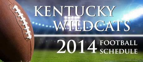 Fall 2014 Kentucky Wildcats Football Schedule #ukfootball #tailgating #blueandwhite