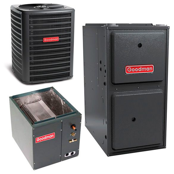 2 Ton Goodman Gsx140241 14 Seer Central Air Conditioner 80 000 Btu 96 Efficiency Gas Furnace Up Flow Syste In 2020 Central Air Conditioners Gas Furnace Furnace System