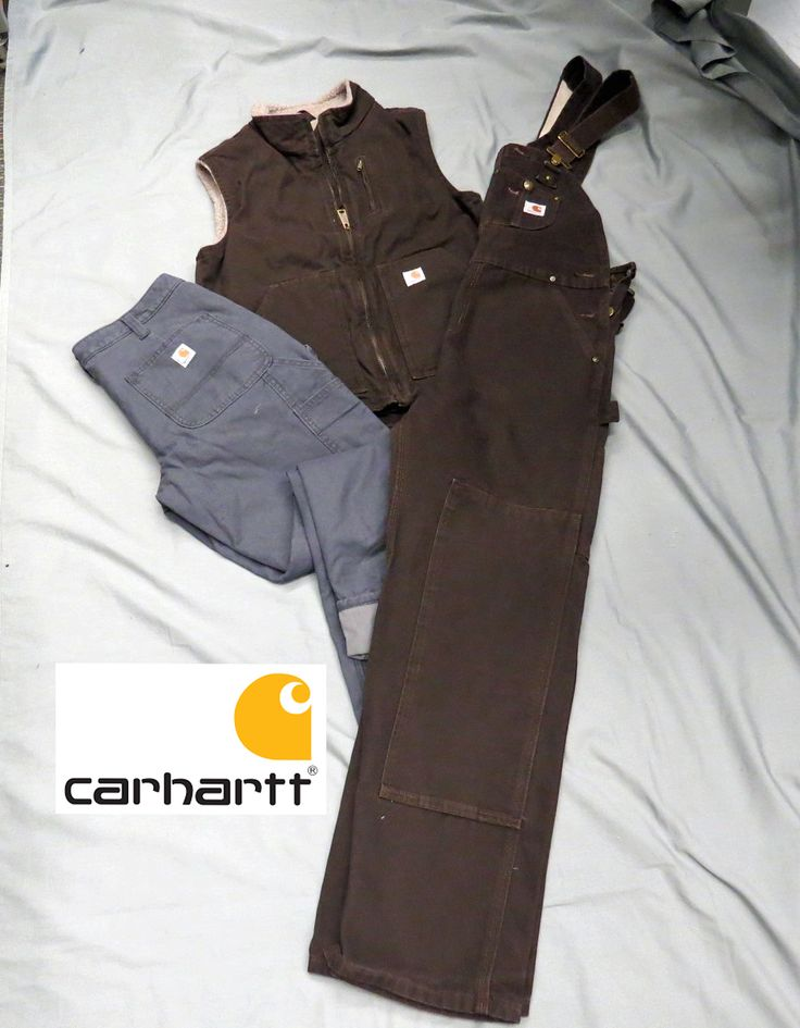 Carhart for men and women, these overalls, are double stitched for strength and double knee protection plus deep pockets and special pockets for extra tools, you may need to carry