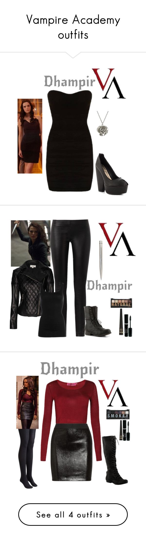 """Vampire Academy outfits"" by gone-girl ❤ liked on Polyvore"