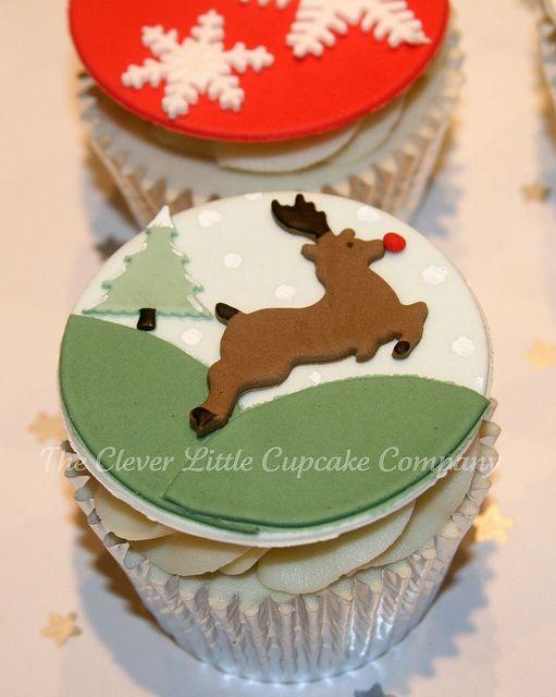 크리스마스 루돌프 컵케익
