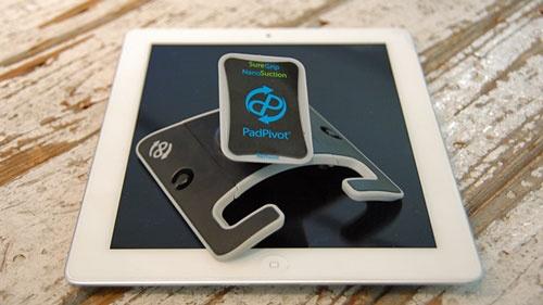 ピタっとフィットしてコンパクト! タブレット携帯スタンド「PadPivot」