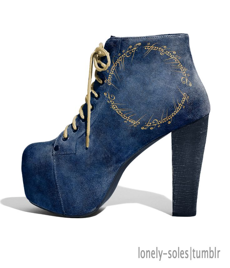 LOTR booties ~ to go with that LOTR Map of Middle Earth dress!!!!!!!