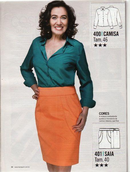 Manequim September 2011.  cute skirt seaming.