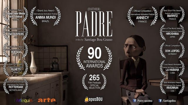 Stop Motion Short Film Running time: 11'50''  Winner of 90 International Awards and Selected in 265 International Film Festivals  Synopsis:  Day by day, the daughter of an elder military commander takes care of her bedridden father. The dictatorship has come to an end in Argentina, but not in this woman's life.  Making of: https://vimeo.com/88605096  https://www.facebook.com/Padre.opusbou https://www.facebook.com/opusBou www.opusbou.com.ar  Idea and Direction: Santiago 'Bou' ...