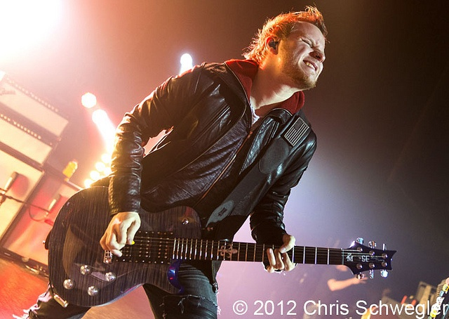 Zach Myers at The Fillmore, Detroit, MI - 04-12-12 by Chris Schwegweb