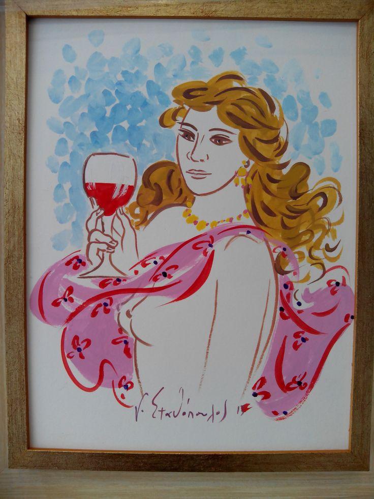 Original drawing by Greek artist G.Stathopoulos