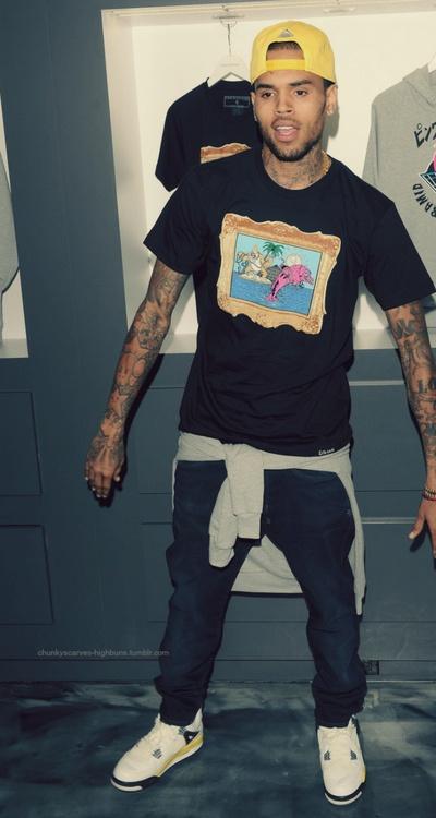 Chris rocking shirt around waist #trendylook | DOPE ...