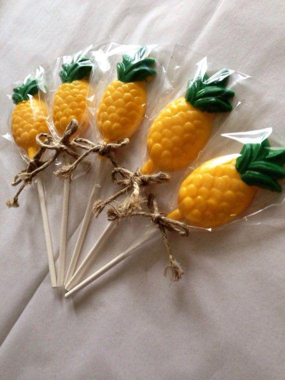 12 Pineapple Lollipops Sponge Bob Square Pants by CandKSweetShoppe