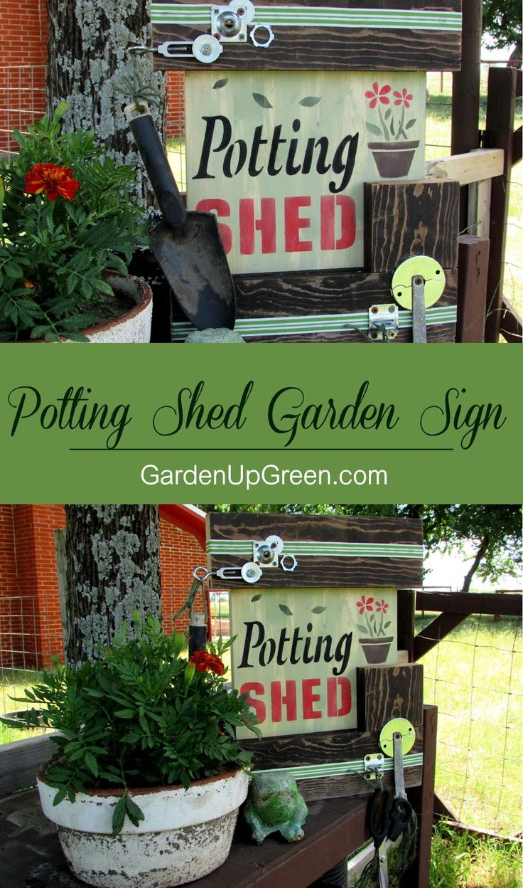 Primitive stencil home sweet home 12x12 for painting signs crafts - Create Your Own Potting Shed Garden Sign Using Reclaimed Wood And Gadgets And Old Sign Stencils This Is A Fun Project