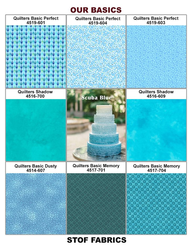 Scuba Blue Plate (2015 Pantone Spring Color) with Stof Basic Collections.