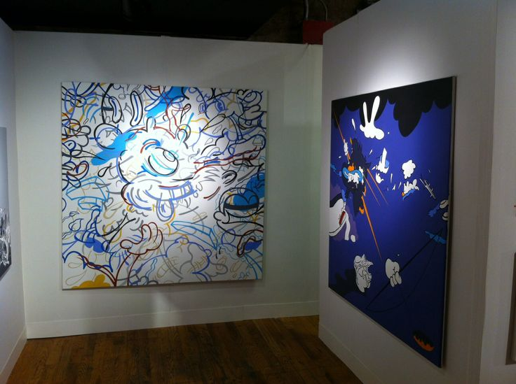 Stephen Tompkins art paintings at Volta NY 2014 #stephentompkins #purple #cat #nuts