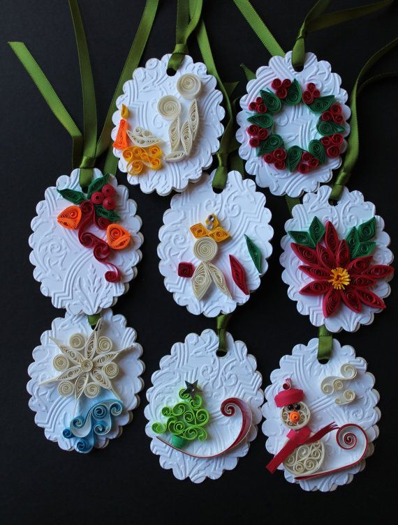Gift tags Christmas gift tags set of Eight by Especially4UHandmade