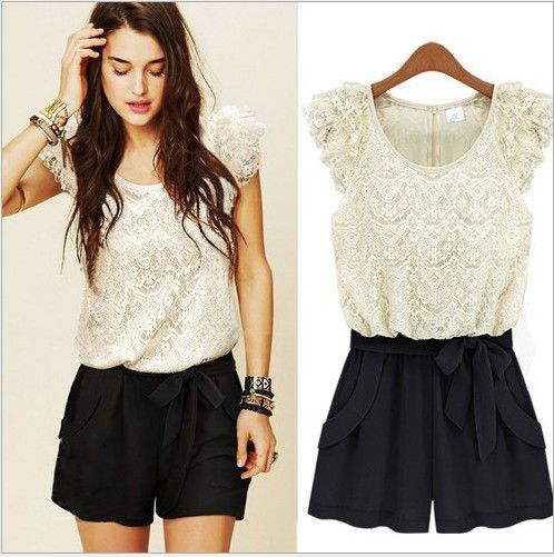 2013 The New Hot Sale European Fashion Vintage Style Dress Casual High Street Designer Brand jumpsuits lace