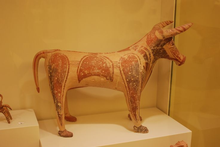 Bull figure, in #Heraklion #Archaeological #Museum #Crete