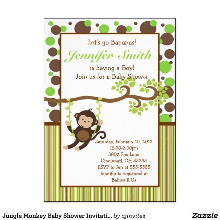 88 best Monkey Baby Shower images on Pinterest | Monkey baby showers ...